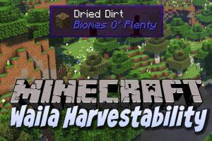 Waila Harvestability Mod for Minecraft