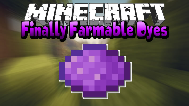 Finally Farmable Dyes Mod for Minecraft