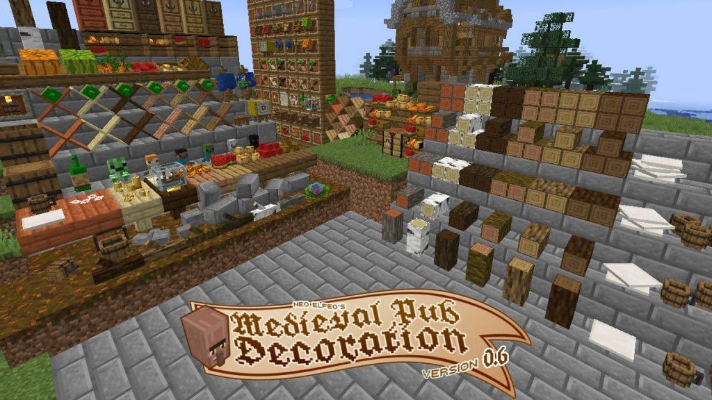 Neoelfeo's Medieval Pub Decoration Mod for Minecraft