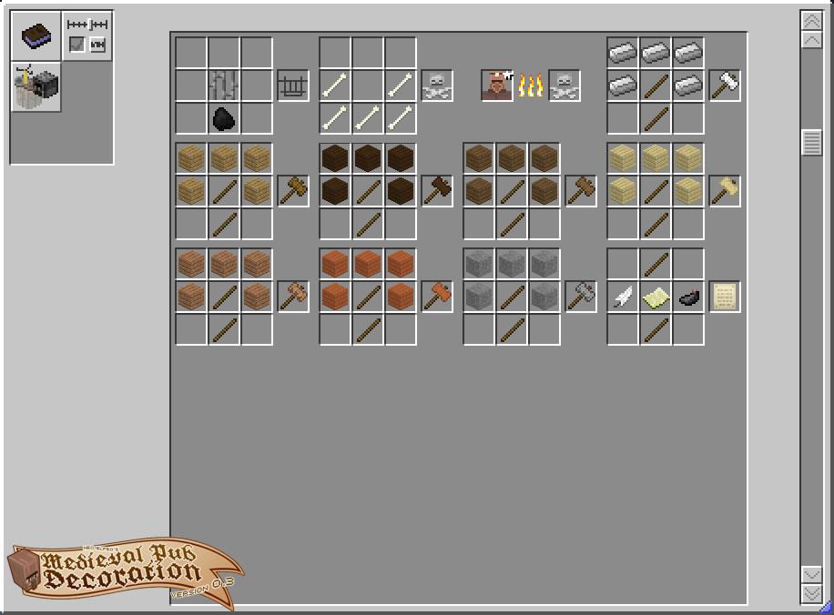 Neoelfeos Medieval Pub Decoration Mod Crafting Recipes 2