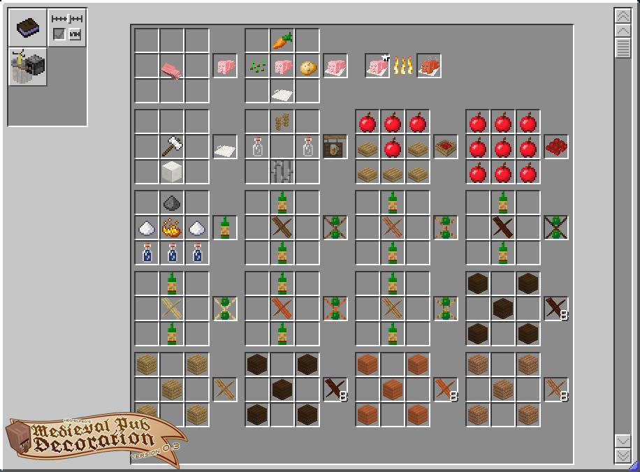 Neoelfeos Medieval Pub Decoration Mod Crafting Recipes 3