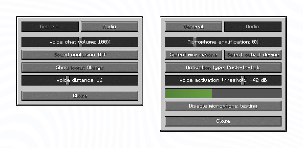 Plasmo Voice Client Configuration Menu