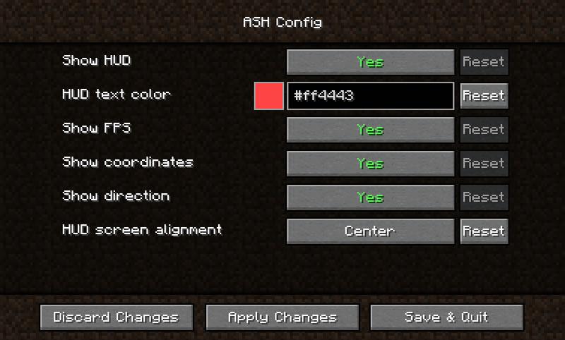 Another Simple HUD Mod Screenshot