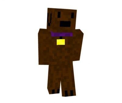 Brown Dog Skin for Minecraft