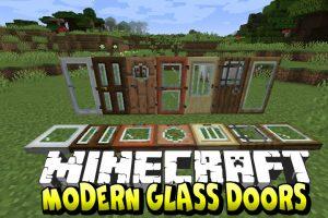 Modern Glass Doors Mod for Minecraft