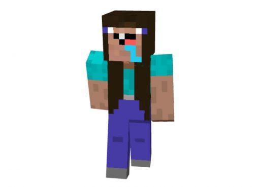 Noob Girl Skin for Minecraft