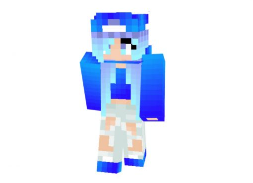Watergirl Skin for Minecraft