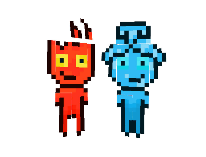 Fireboy and Watergirl Skin for Minecraft