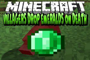 Villagers Drop Emeralds on Death Mod for Minecraft