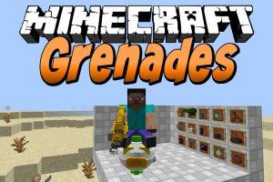 Grenades Mod for Minecraft