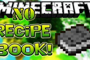 No Recipe Book Mod for Minecraft