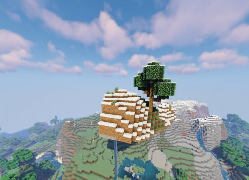 Sky Island Near the Mountains Seed for Minecraft